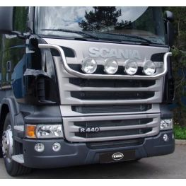 Stainless steel snowplough light bar - Kama - for G & R series from 2010 ->.
