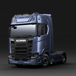2706673 Scania light bar for high roof, long without LED. Lamp brackets in high position.
