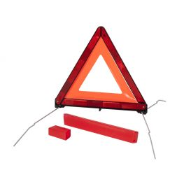 Foldable warning triangle.