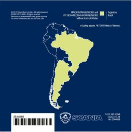 2544888 Map data s.america, Scania AUS3 navigation