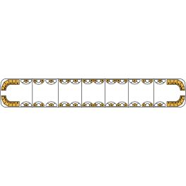 2614249 2614249. Aurum, lavprofils, fuldt udstyret, gult LED-advarselssystem 1778 mm.