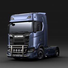 Stainless steel front protection bars - Scania for Scania NTG,  P,G, R & S cabs.