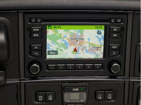 Scania-radioer med satellitnavigation