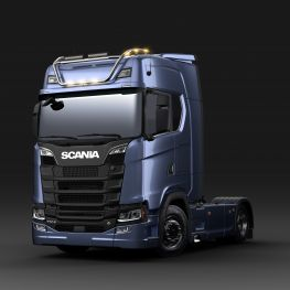 2706675 Scania light bar for high roof, long with LED. Lamp brackets in high position.