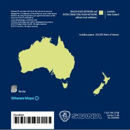 2544889 Map data australia, Scania AUS3 navigation