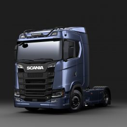 Black versions of Scania stainless steel roof light bars