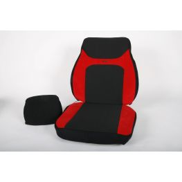 582367 Red/black cover for Isri 1000, 6000, 65000 with high backrest
