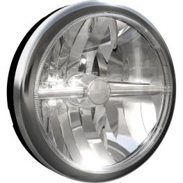 2596714 Oscar, 180 mm, LED, feixe largo, preto, aro cromado, Ref. 17,5.