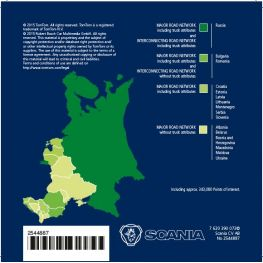 2544887 Map data Eastern Europe, Scania AUS3 navigation