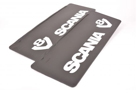Rear mudflaps with Scania and V8 logo