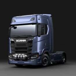 Stainless steel front light bar - Scania  for Scania NTG.
