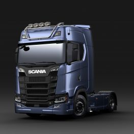 2712604 Scania light bar for high roof, short without LED. Lamp brackets in high position.