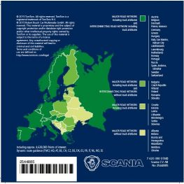 2544885 Map data Europe, Scania AUS3 navigation (except UK, Ireland and Turkey)